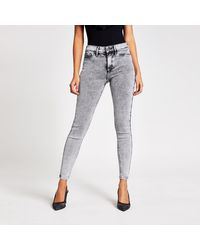 River Island Molly Mid Rise jeggings - Grey