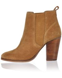 River Island Tan Suede Heeled Ankle Boots - Brown