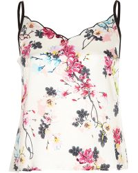 River Island - White Floral Print Cami Pyjama Top - Lyst