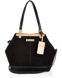 River Island Black Bucket Handbag