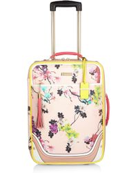 River Island Pink Floral Print Suitcase