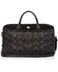River Island - Black Embroidered Weekend Bag - Lyst