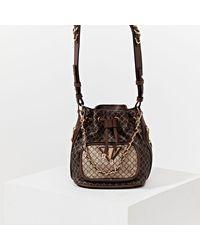 River Island Brown Ri Faux Leather Duffle Bag