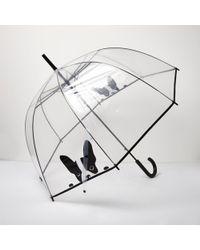 River Island - Transparent French Bulldog Umbrella - Lyst