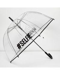 River Island Transparent #selfie Umbrella - Multicolour