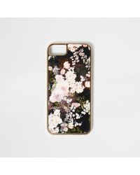 River Island | Black Floral Print Phone Case Black Floral Print Phone Case | Lyst