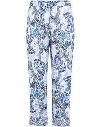 River Island Plus Blue Paisley Printed Pajama Pants