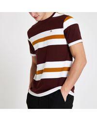 dcf5c27e0 River Island Purple Plain Chest Pocket T-shirt in Purple for Men - Lyst