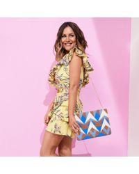 River Island - Blue Caroline Flack Print Towel Clutch Bag - Lyst