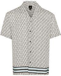 River Island White Ri Monogram Revere Shirt