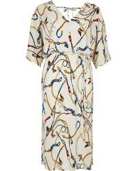 9c453200f7 River Island Plus Brown Leopard Print Beach Dress in Brown - Lyst