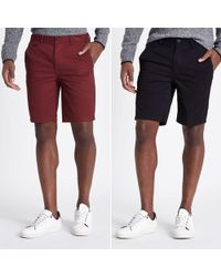 River Island - Slim Fit Chino Shorts Multipack - Lyst