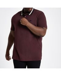 d88722ceeb9 River Island Brown Colour Block Polo Shirt for Men - Lyst