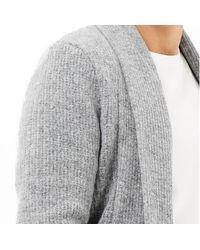 River Island Grey Wool-blend Longline Open Cardigan