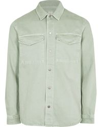 River Island Green Washed Long Sleeve Shacket