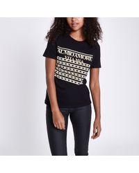 River Island - 'al Mio Amore' Print T-shirt - Lyst