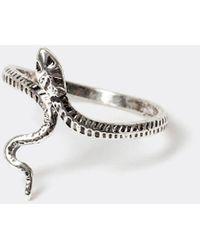 River Island Silver Snake Wrap Ring - Metallic