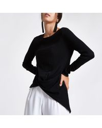 River Island - Twist Front Knitted Top - Lyst