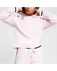 River Island Petite Pink Prolific Embroidered Hoodie