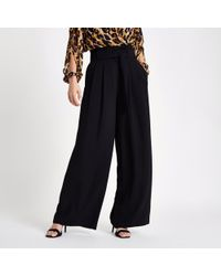 7f44ed62efeff Lyst - River Island Plus Belted Culottes in Brown