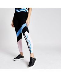 River Island Prolific Black Color Block V Waist leggings
