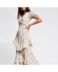 River Island Cream Paisley Print Maxi Dress - Multicolour