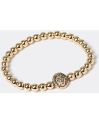 River Island Gold Colour Lion Beaded Bracelet - Metallic