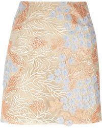 River Island - Pink Flower Embellished Mini Skirt Pink Flower Embellished Mini Skirt - Lyst