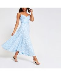 River Island - Forever Unique Textured Maxi Dress - Lyst