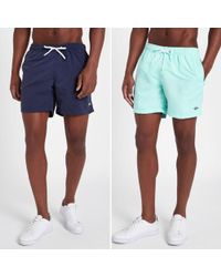 River Island - Navy And Mint Blue Short Swim Shorts Pack - Lyst