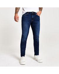 River Island Dark Blue Slim Fit Dylan Jeans