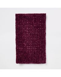 River Island - Chenille Knit Scarf - Lyst