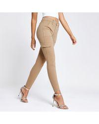 River Island Amelie Super Skinny Utility Jeans - Natural