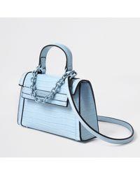River Island Blue Mini Tote Cross Body Handbag