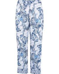 River Island Plus Blue Paisley Printed Pyjama Trousers