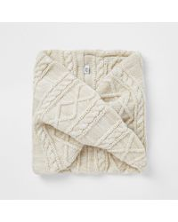 River Island Beige Cable Knit Snood - Natural