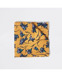 River Island - Yellow Floral Handkerchief - Lyst