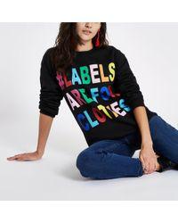 River Island - Black Ditch The Label Charity Sweatshirt - Lyst