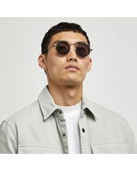 River Island Round Frame Sunglasses - Black
