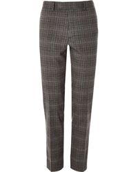 River Island - Big & Tall Grey Check Skinny Smart Trousers - Lyst