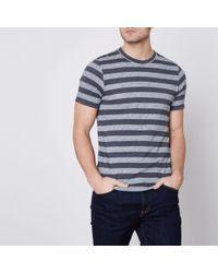 River Island - Jack & Jones Premium Navy Stripe T-shirt - Lyst
