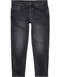 River Island Black Tapered Denim Jeans