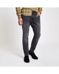 Wrangler River Island Bryson Skinny Fit Jeans - Grey
