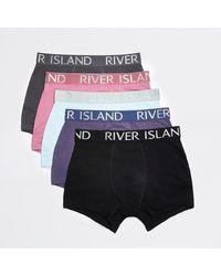River Island Purple Ri Boxers 5 Pack