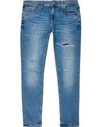 River Island Big & Tal Blue Ripped Sid Skinny Jeans