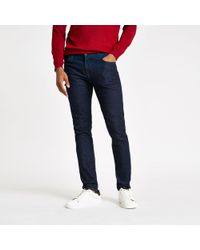 Lee Jeans - Lee blue Malone skinny fit jeans - Lyst
