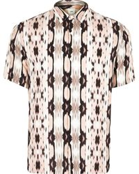 River Island - Big And Tall Print Slim Fit Shirt - Lyst