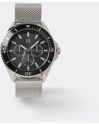 River Island Silver Mesh Strap Watch - Gray