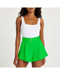River Island Green Structured Shorts