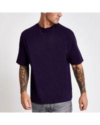 River Island Purple Short Sleeve Oversized Fit T-shirt